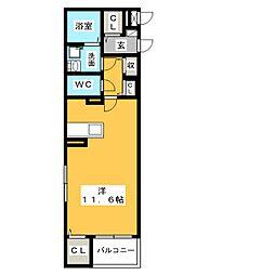 コンフォルタ[4階]の間取り