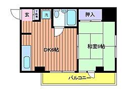 東京都立川市栄町6丁目の賃貸マンションの間取り