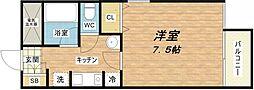 大阪府大阪市中央区森ノ宮中央1丁目の賃貸マンションの間取り