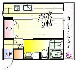 山崎第二ハイツ[2階]の間取り
