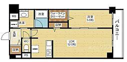 ラ・ルミエール塚本[6階]の間取り