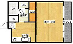 神奈川県大和市西鶴間1の賃貸マンションの間取り