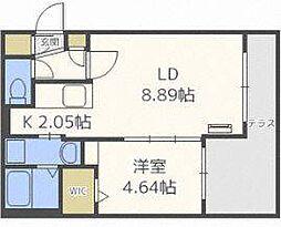 フォレストヒルズN36[1階]の間取り