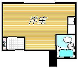 コーシンコーポ[4階]の間取り