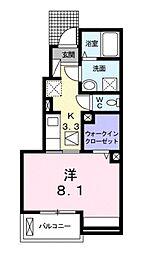 滋賀県甲賀市水口町新町2丁目の賃貸アパートの間取り