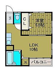 東京都町田市成瀬が丘1丁目の賃貸マンションの間取り
