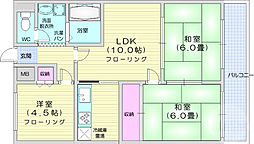 第2後藤ビル 9階3LDKの間取り