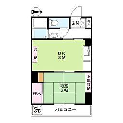 第二京浜ビル[503号室]の間取り