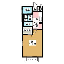 セジュール セレス[2階]の間取り