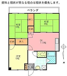 倉田ビル[203号室]の間取り