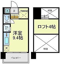 是空天王寺[5階]の間取り