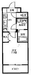 IJマンションKasen[1階]の間取り