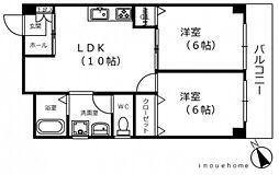 エビスマンション[3階]の間取り
