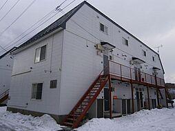 北海道室蘭市中島町3丁目の賃貸アパートの外観