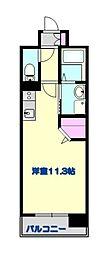 サムティ熊本Rio branco 5階ワンルームの間取り