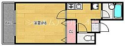 べレッツア南天神[4階]の間取り