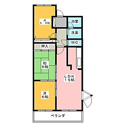 サンコート有松[2階]の間取り