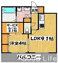 ROYAL STAGE 吉塚[5階]の間取り