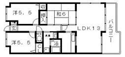 グレイシャス駒川[3階]の間取り