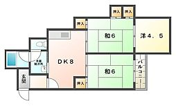 シティライフ柳[4階]の間取り