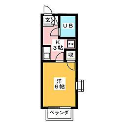 プチメゾン森[1階]の間取り