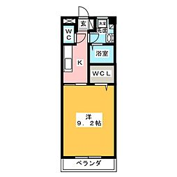 サニーダブル[1階]の間取り