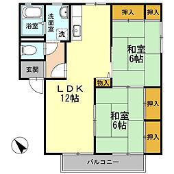 ディアス池田[B-202号室]の間取り