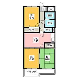 メゾン清水田[3階]の間取り