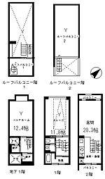 Garage House 10.9K tokyo 1階1LDKの間取り