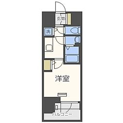 エスリード難波ステーションゲートサウステラス 12階1Kの間取り