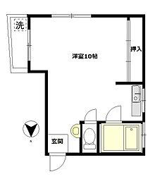 東京都北区豊島6丁目の賃貸マンションの間取り