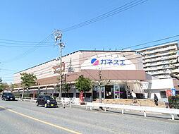 カネスエ 木場店平成31年2月にOPENしたばかりのお値打ちスーパー。平日3%割引他では買物できなくなるくらい安い 徒歩 約7分(約500m)
