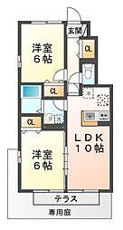 滋賀県大津市坂本2丁目の賃貸アパートの間取り