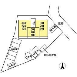 仮)D-room小木田町PJ[102号室]の外観