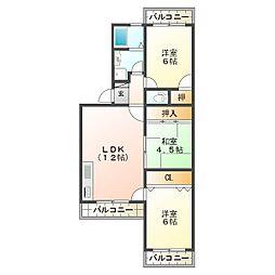 ハイツポールベール[3階]の間取り