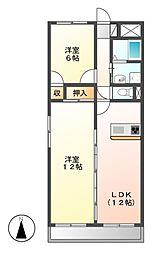LONE STAR茶屋ヶ坂(ローンスター)[3階]の間取り