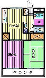ベルシェ松井[206号室]の間取り