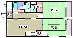 巴マンション[2階]の間取り