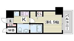 EP神戸三宮ルクシア[506号室]の間取り