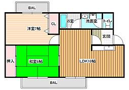 マンションリベラル[2階]の間取り