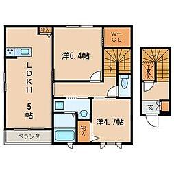 シャーメゾン八千代[2階]の間取り