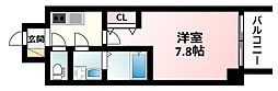 JR東海道・山陽本線 新大阪駅 徒歩5分の賃貸マンション 13階1Kの間取り