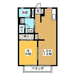サンモールアユツボ[1階]の間取り
