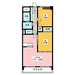 メゾン蒼空[3階]の間取り