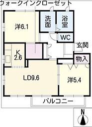 ヴューテラスA棟[2階]の間取り