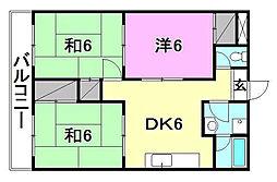 松山西ハイツ[703 号室号室]の間取り