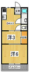 マンション山科B棟[1階]の間取り