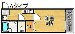 レスポワール御崎[1階]の間取り