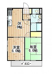 神奈川県相模原市中央区相生1丁目の賃貸マンションの間取り