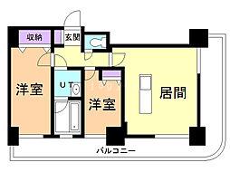 グランドタワー札幌 6階2LDKの間取り